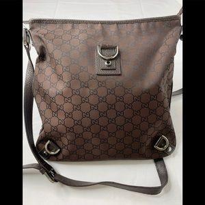 Gucci Abbey D-Ring Nylon messenger crossbody bag